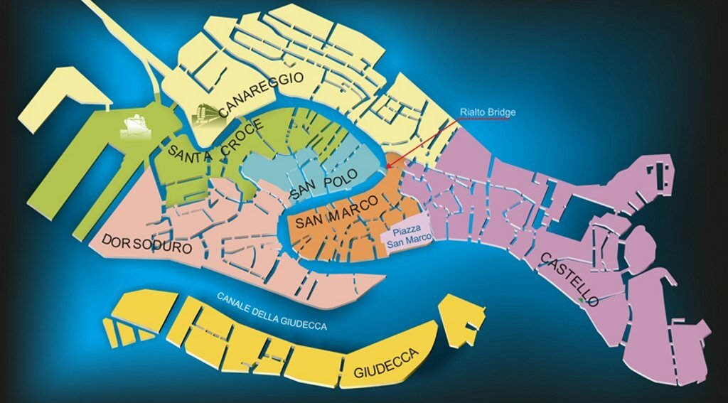 Divisione sestieri Venezia