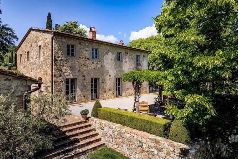 Fachada da casa de fazenda Casa Fabbrini