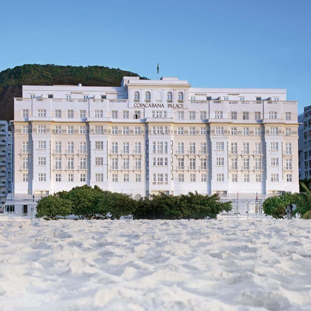 Vista facciata Copacabana Palace