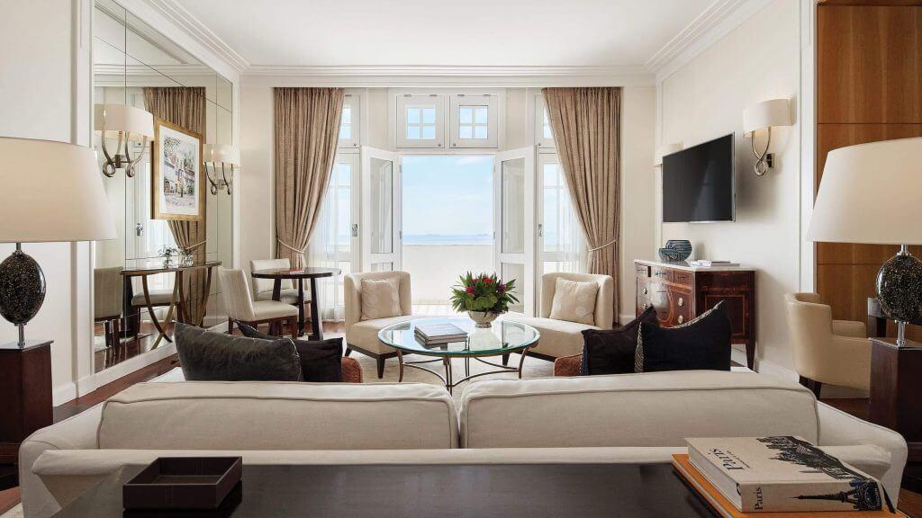 Una suite del Copacabana Palace