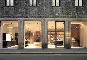 Fachada nova loja em Milão Euromobil