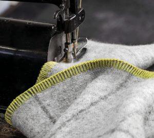 Costurando um cobertor